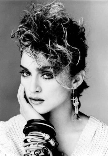 Portrait of Madonna circa early 1980s.